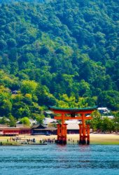厳島神社 世界遺産 iPhone X/Android壁紙