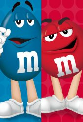 M&M'S(エムアンドエムズ)青赤iPhone 6/Android壁紙