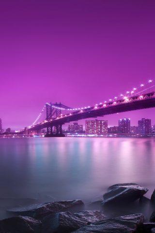 マンハッタン橋iPhone 8 Plus/Android壁紙