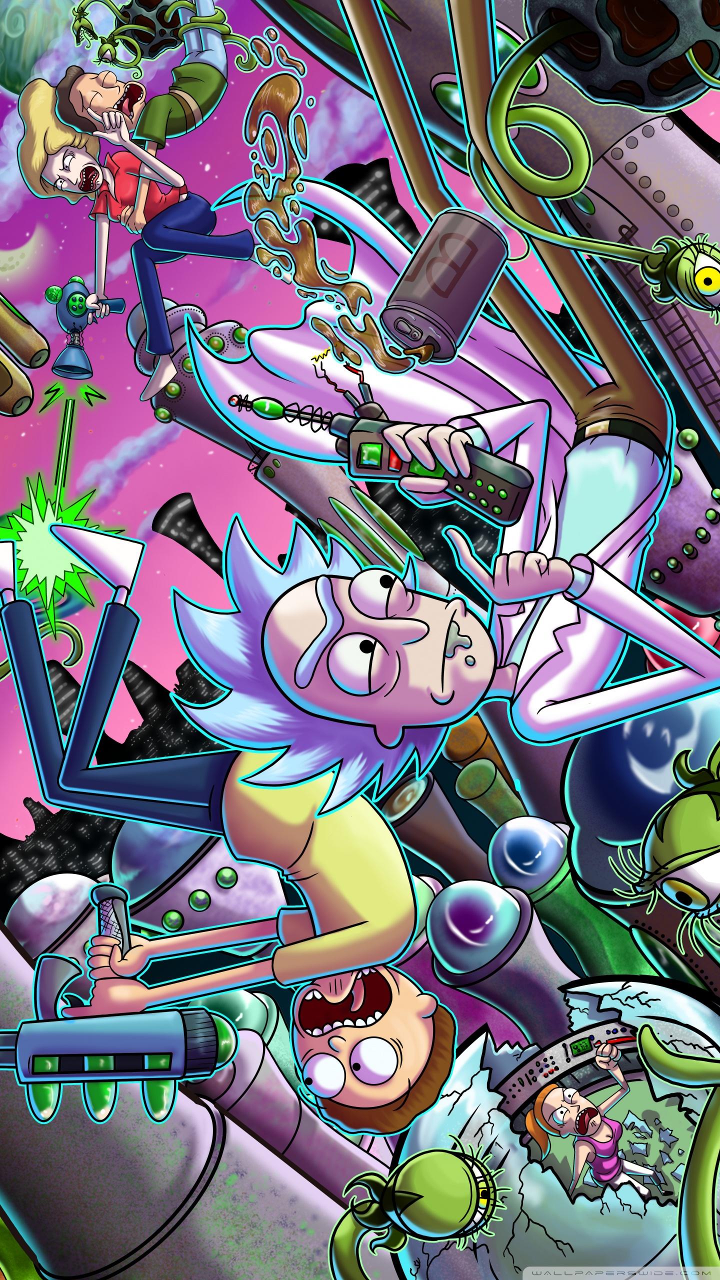 リック アンド モーティタイムトラベルiphone X Android映画壁紙