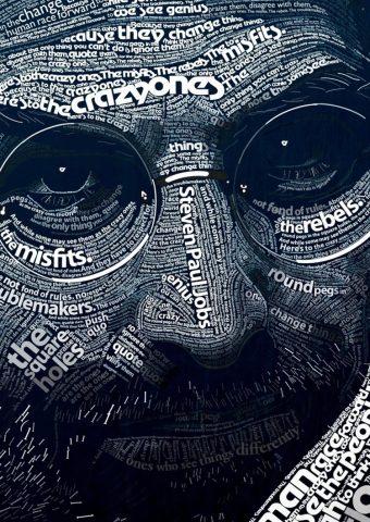 スティーブ・ジョブズタイポグラフィiPhone 6/Android壁紙