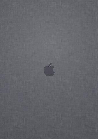 アップルロゴグレーリネンテクスチャ背景無料壁紙