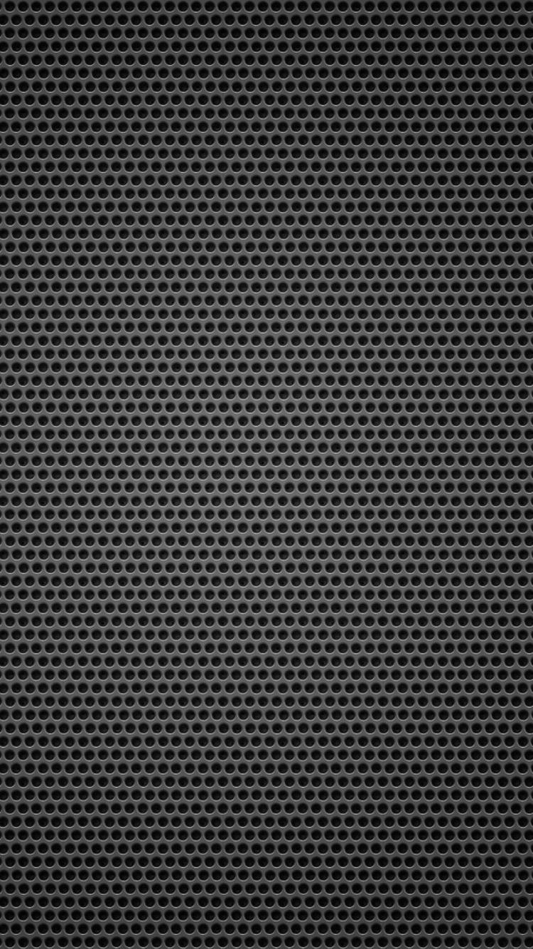 黒の背景金属穴小iphone 6 Androidテクスチャ壁紙 750 1334 Iphoneチーズ