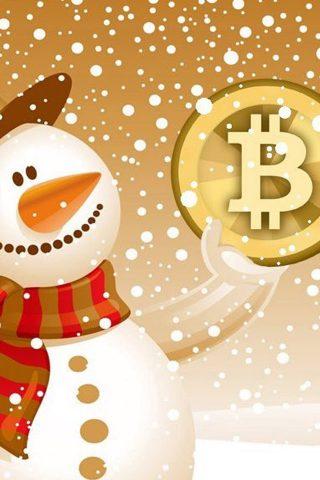 クリスマスビットコインiPhone/Android壁紙