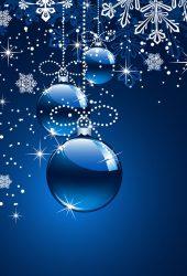 クリスマスブルーiPhone 8 Plus/Android壁紙