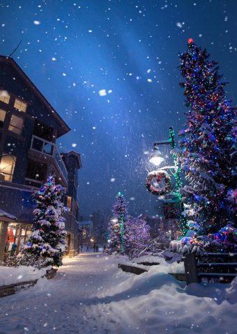クリスマス新年冬スマホ壁紙