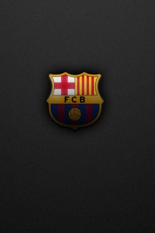 FCバルセロナロゴiPhone 8 Plus/Android壁紙