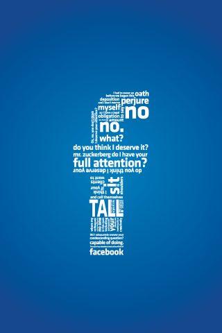 フェイスブックタイポグラフィスマホ 壁紙