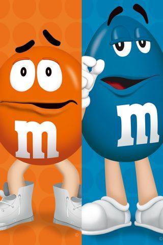M&M'S (エムアンドエムズ) オレンジブルー 無料壁紙
