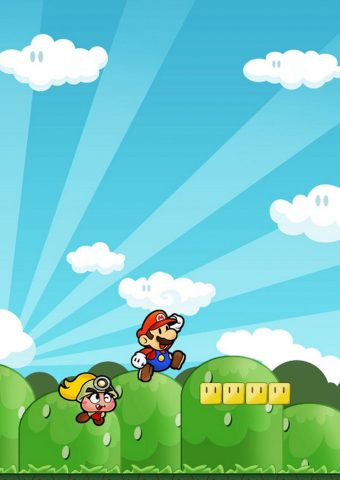 マリオゲームプレイiPhone 8 Plus/Android壁紙