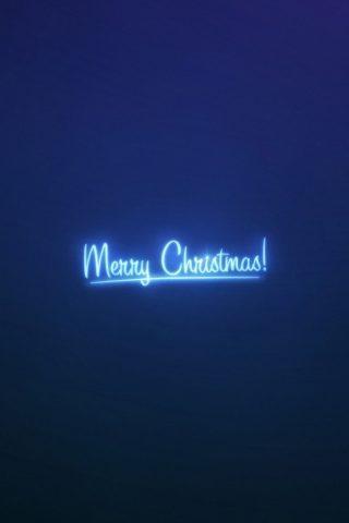 メリークリスマスネオンブルーライトAndroid壁紙