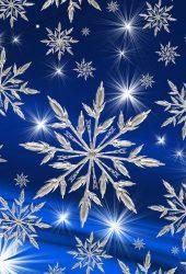 スノーフレーククリスマスアート無料壁紙