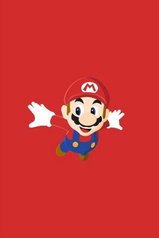 スーパーマリオ赤iPhone XS Max/Android壁紙