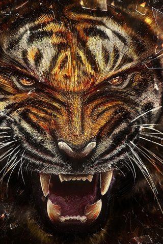 虎の牙iPhone 6/Android壁紙