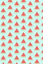 スイカのイラストパターン 壁紙 無料