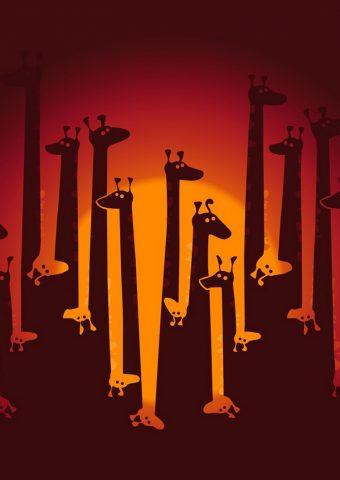 面白い漫画キリンヘッド iPhone 6 壁紙