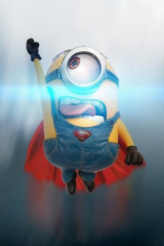 ファニーミニオンスーパーマン無料壁紙