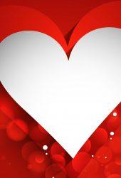 幸せなバレンタインデー3DペーパーハートiPhone 6 Plus/Android壁紙