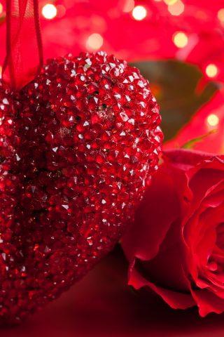 赤いハートの純粋な愛-幸せなバレンタインデー 壁紙 無料