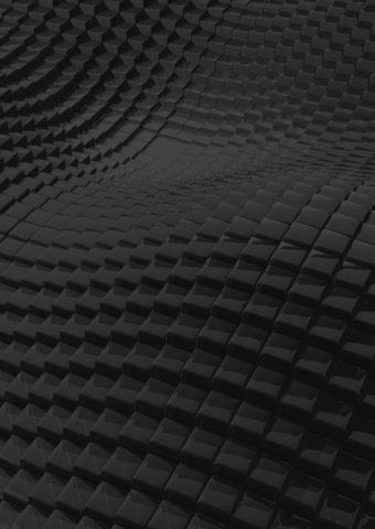 表面ラフブラックキュービックiPhone壁紙