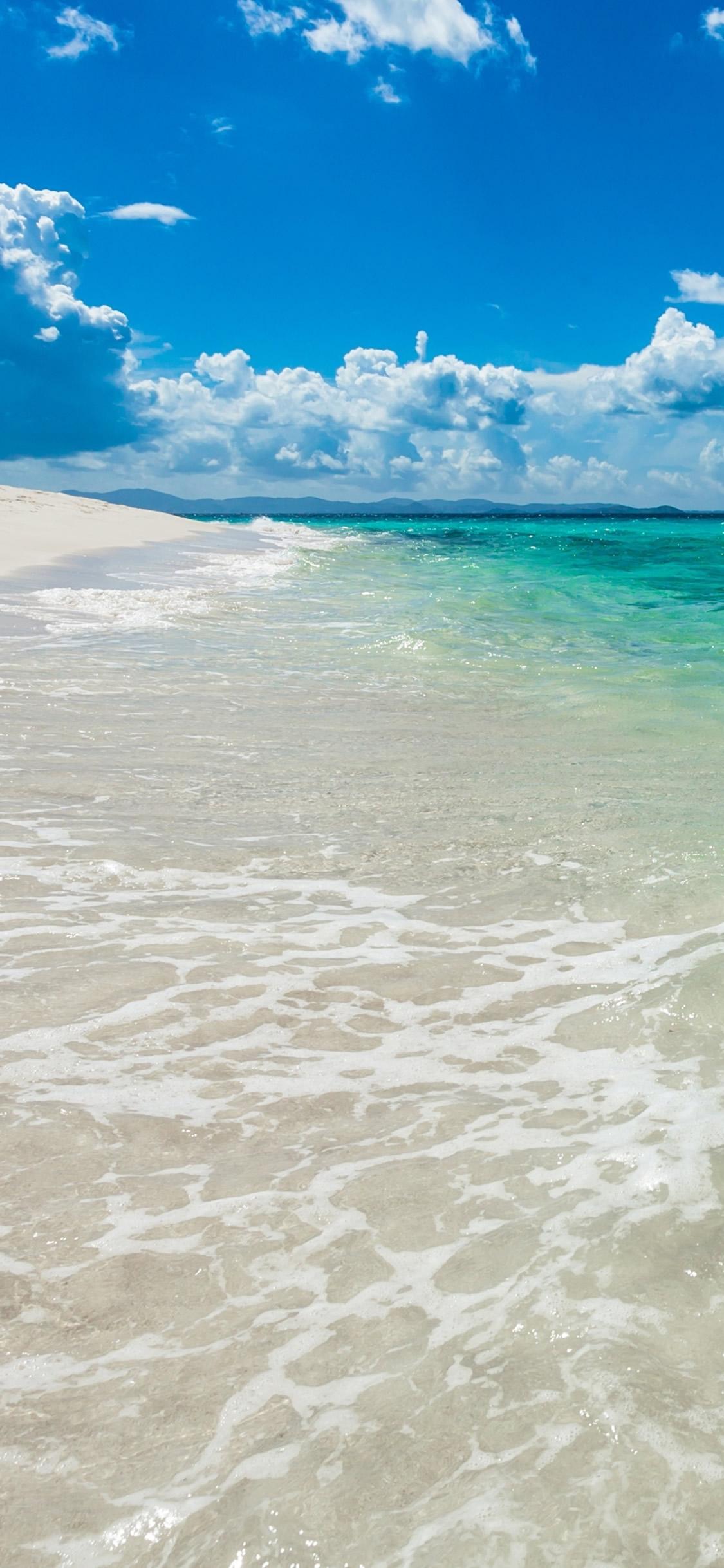 海のビーチのモバイル壁紙 自然 Iphoneチーズ