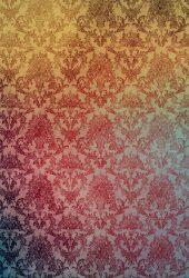 ダマスク柄グラデーションのスマホ壁紙