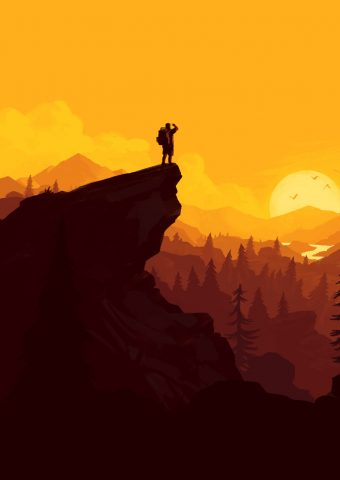 Firewatch(ファイアー・ウォッチ)iPhone X/Android壁紙