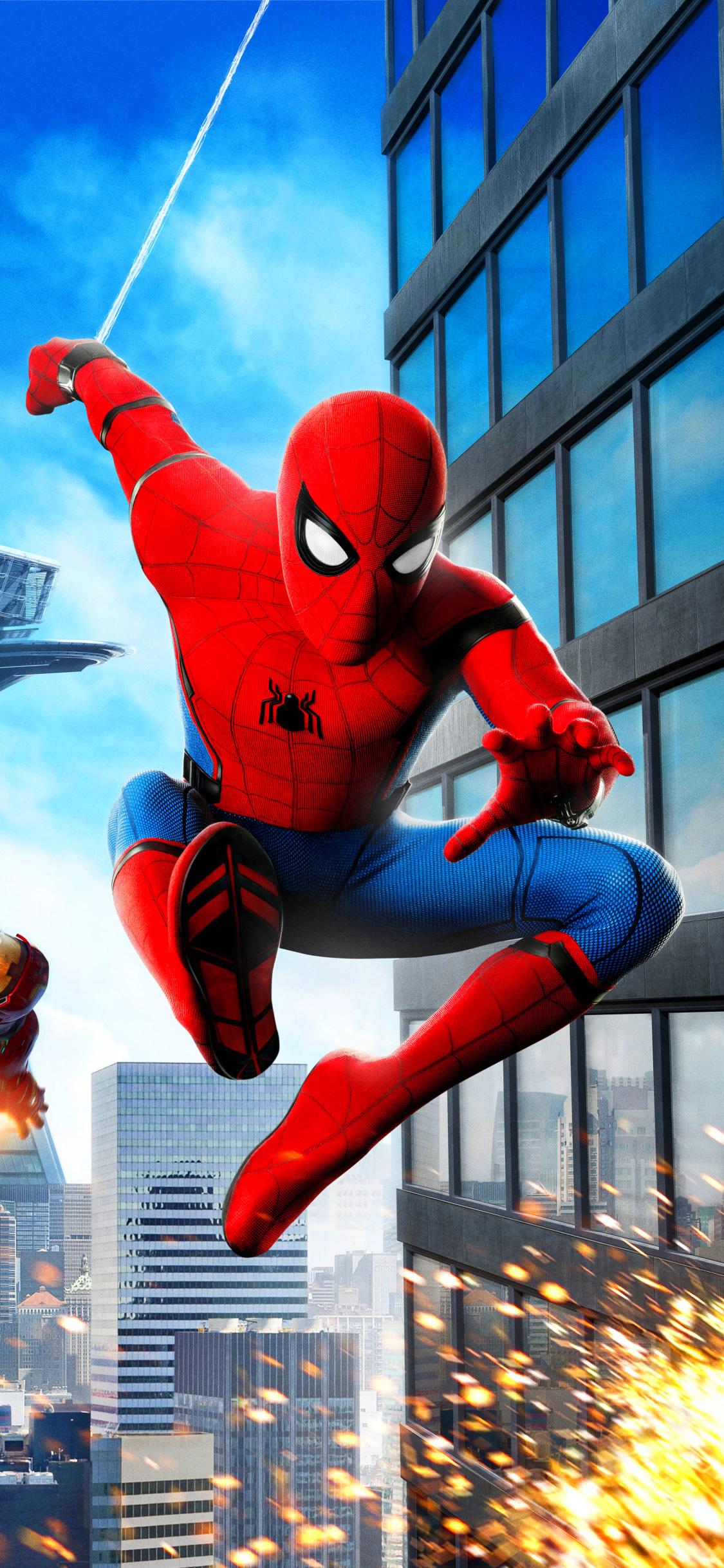 スパイダーマン ホームカミングスマホ壁紙 Iphone X Android 映画
