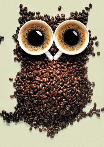 コーヒーフクロウのモバイル壁紙