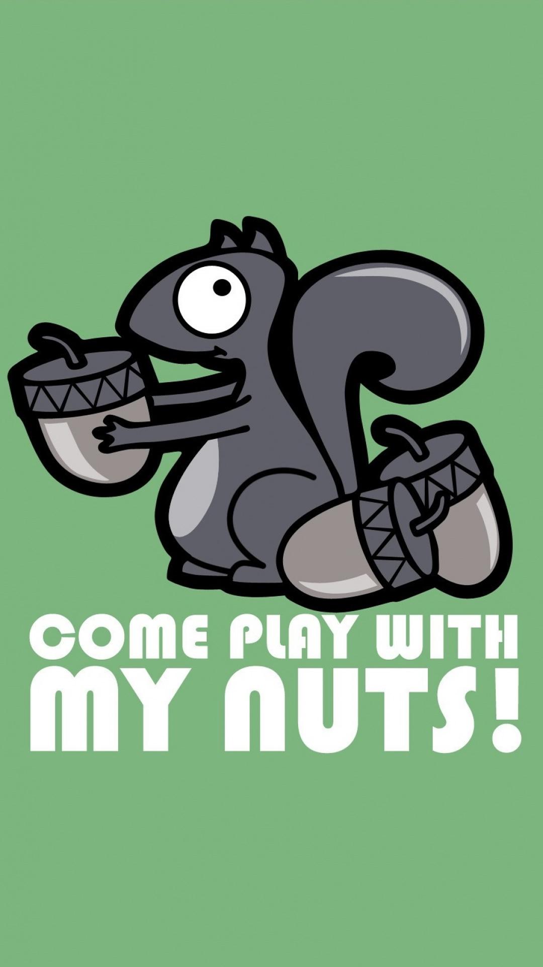 私のナッツで遊びに来ての壁紙