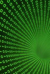 緑の抽象的なデジタル技術の壁紙