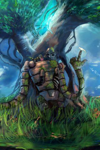 天空の城ラピュタのアニメの壁紙