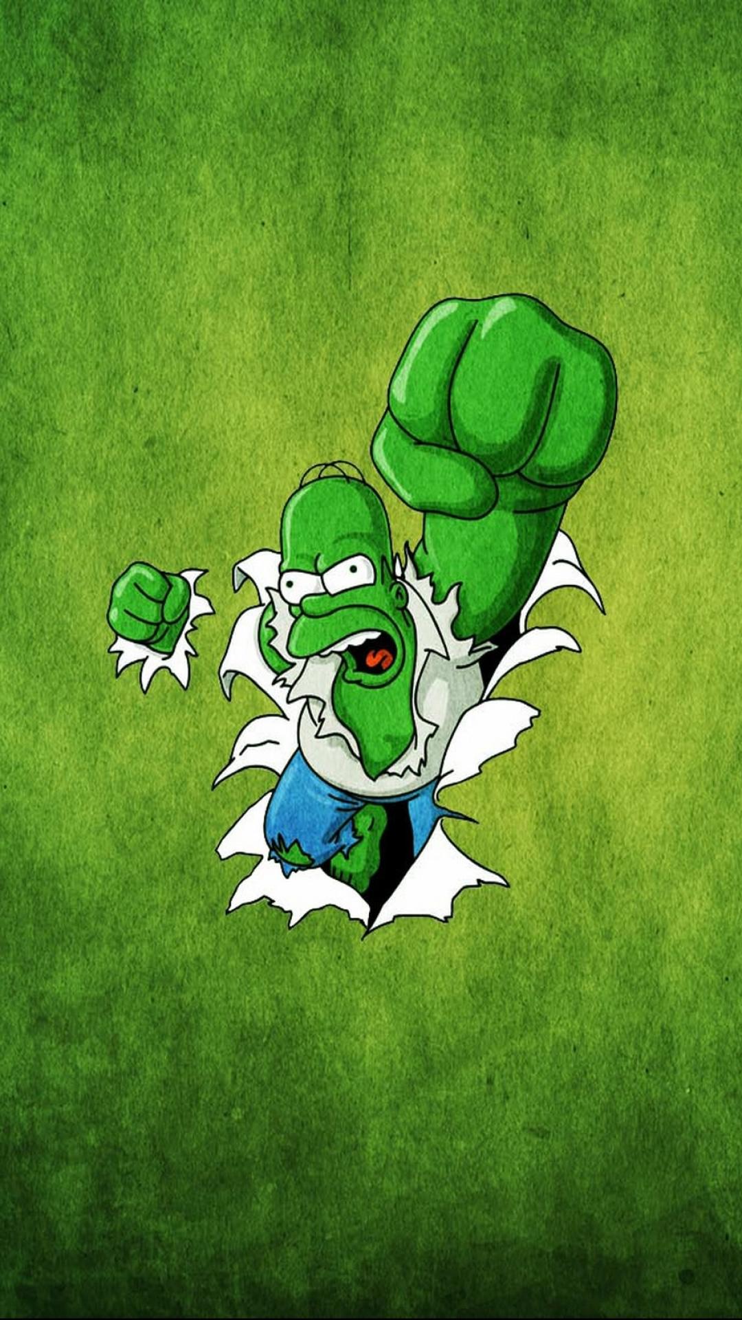 ザ・シンプソンズの緑の壁紙