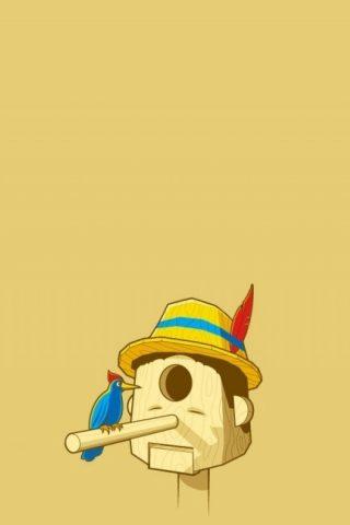 面白いピノキオのモバイル壁紙