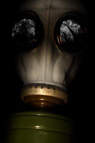 ガスマスクのiPhone 7 Plus壁紙