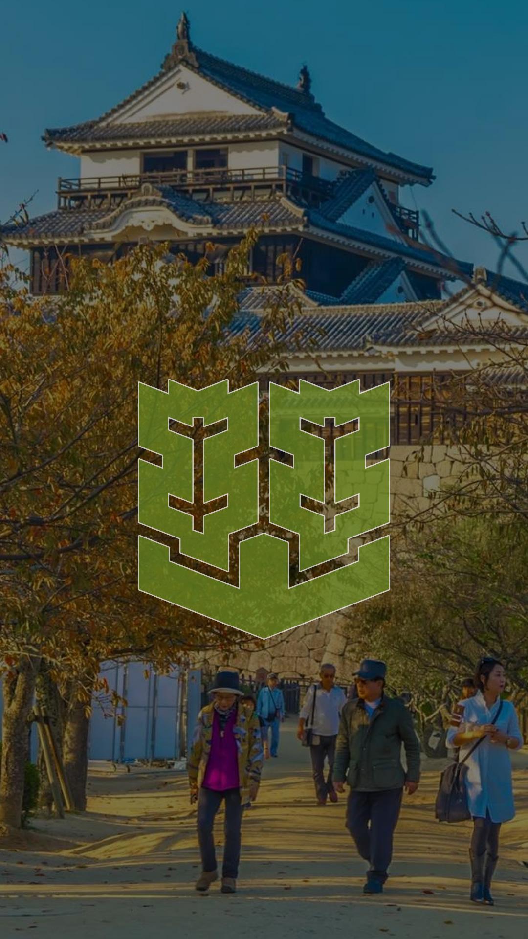 松山市エンブレムのスマホ壁紙