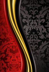 赤と黒の抽象的なパターンのスマホ壁紙