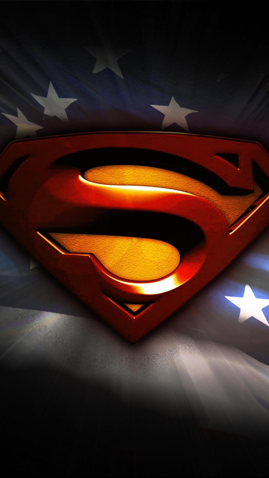 スーパーマンのロゴのスマホ壁紙