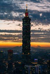 台北101超高層ビルのiPhone X壁紙