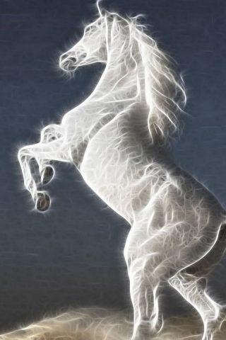 抽象的な馬のスマホ壁紙